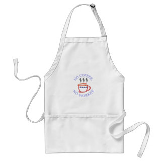 No Coffee No Workee Adult Apron