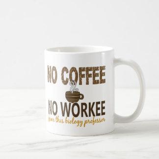No Coffee No Workee Biology Professor Coffee Mug