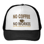 No Coffee No Workee Customer Service Manager Trucker Hat