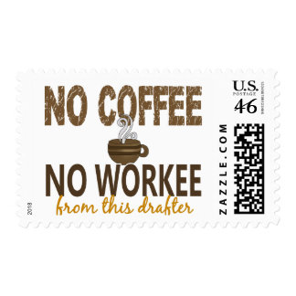 No Coffee No Workee Drafter Stamps