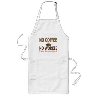 No Coffee No Workee Ecologist Apron