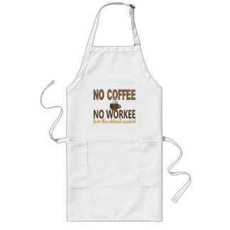 No Coffee No Workee Editorial Assistant Long Apron