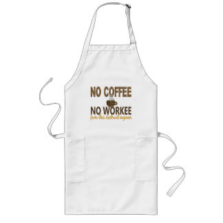 No Coffee No Workee Electrical Engineer Long Apron