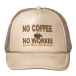 No Coffee No Workee Electrician Trucker Hat