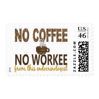 No Coffee No Workee Endocrinologist Stamp