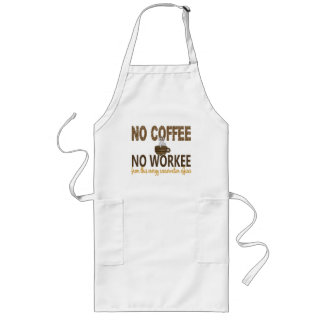 No Coffee No Workee Energy Conservation Officer Aprons