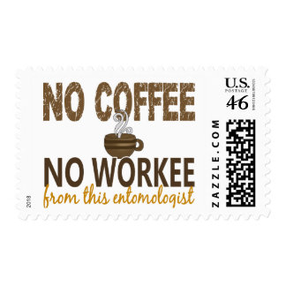 No Coffee No Workee Entomologist Postage Stamps