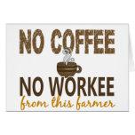 No Coffee No Workee Farmer Card