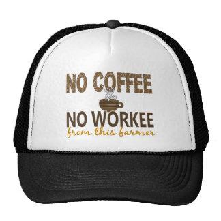 No Coffee No Workee Farmer Trucker Hat