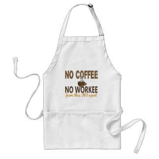 No Coffee No Workee FBI Agent Adult Apron