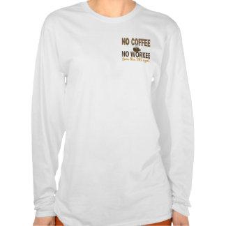 No Coffee No Workee FBI Agent Tee Shirts