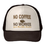 No Coffee No Workee Film Director Mesh Hats