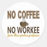 No Coffee No Workee Genetics Professor Stickers