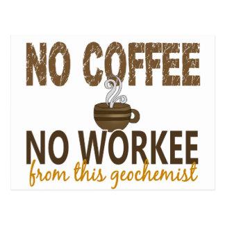 No Coffee No Workee Geochemist Postcard