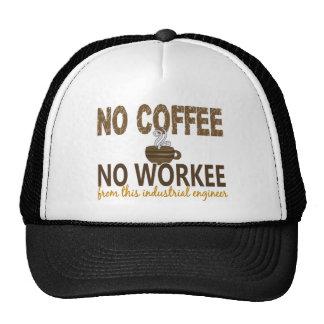 No Coffee No Workee Industrial Engineer Trucker Hat