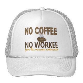 No Coffee No Workee Insurance Underwriter Trucker Hat