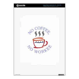 No Coffee No Workee iPad 3 Decals