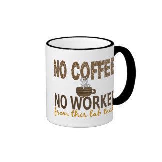 No Coffee No Workee Lab Tech Coffee Mugs
