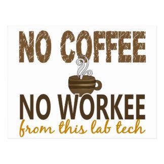 No Coffee No Workee Lab Tech Postcards