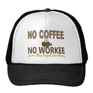 No Coffee No Workee Legal Secretary Trucker Hat