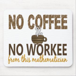 No Coffee No Workee Mathematician Mousepads