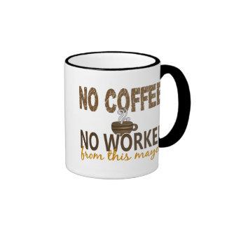 No Coffee No Workee Mayor Ringer Coffee Mug