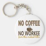 No Coffee No Workee Medical Biller Basic Round Button Keychain