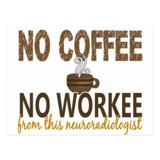 No Coffee No Workee Neuroradiologist Postcard
