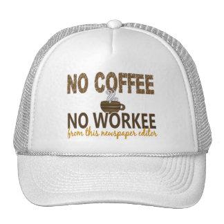 No Coffee No Workee Newspaper Editor Mesh Hats