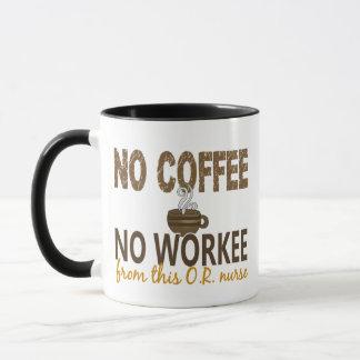 No Coffee No Workee OR Nurse Mug