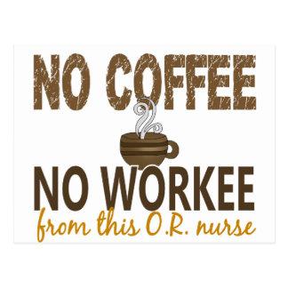 No Coffee No Workee OR Nurse Postcard