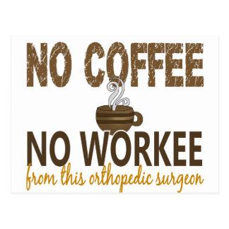 No Coffee No Workee Orthopedic Surgeon Postcard