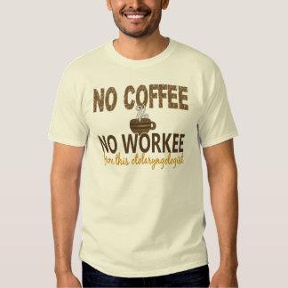 No Coffee No Workee Otolaryngologist T-shirts