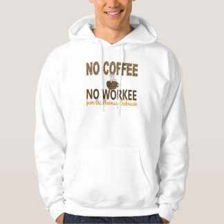 No Coffee No Workee Pharmacy Technician Hooded Sweatshirts
