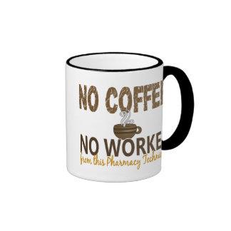 No Coffee No Workee Pharmacy Technician Ringer Coffee Mug