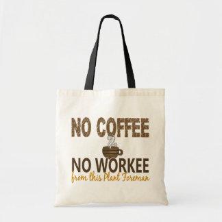 No Coffee No Workee Plant Foreman Tote Bag