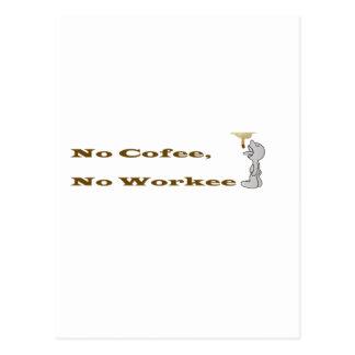 No Coffee, No Workee Postcard