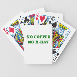 No Coffee No X-Ray Bicycle Playing Cards
