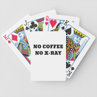 No Coffee No Xray Bicycle Playing Cards
