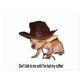 No Coffee Postcard