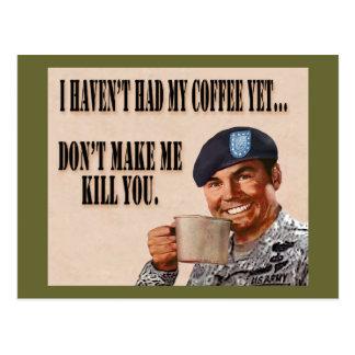 No Coffee Yet Postcard