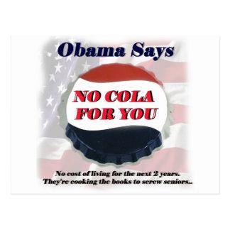 No Cola For You Postcard