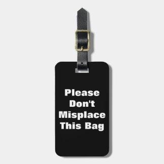 No coloque mal este bolso perdido encontró la iden etiquetas bolsas