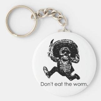 No coma el esqueleto del mexicano del gusano llavero personalizado