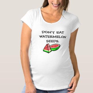 No coma la camiseta de maternidad divertida de las
