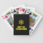 No coma la nieve amarilla baraja de cartas