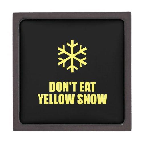 No coma la nieve amarilla caja de regalo de calidad