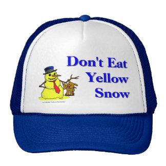 No coma la nieve amarilla gorras