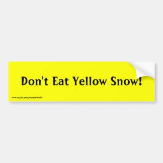 No coma la nieve amarilla pegatina para el para pegatina de parachoque