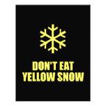 No coma la nieve amarilla plantilla de membrete